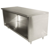 Advance Tabco EB-SS-245 24 inch x 60 inch 14 Gauge Open Front Cabinet Base Work Table