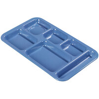 Carlisle 4398392 Space Saver 9 inch x 15 inch Sandshades Melamine Right Hand 6 Compartment Tray