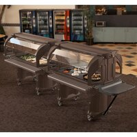 Cambro VBR6146 Bronze 6' Versa Food / Salad Bar with Standard Casters