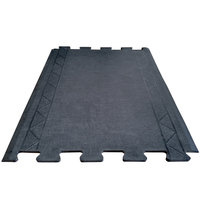 Cactus Mat 2500-RC28 Comfort Zone 2' 4 inch x 3' Black Interlocking Center Anti-Fatigue Mat - 1/2 inch Thick