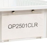Metro OP2535CLR Snap-On Card Holder - 3 inch x 5 inch
