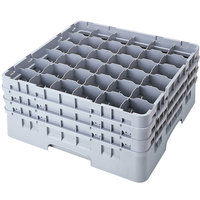 Cambro 36S958151 Soft Gray Camrack 36 Compartment 10 1/8 inch Glass Rack