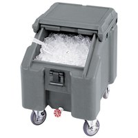 Cambro ICS100L180 Light Gray Sliding Lid Portable Ice Bin - 100 lb. Capacity
