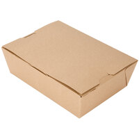 Microwavable Paper #3 Take Out Box 7 3/4 inch x 5 1/2 inch x 2 1/2 inch - 50 / Pack