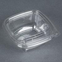 Sabert C15012TR250 Bowl2 12 oz. Clear PETE Square Tamper Evident Bowl with Lid - 250 / Case