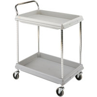 Metro BC2636-2DG Gray Utility Cart with Two Deep Ledge Shelves 38 3/4 inch x 27 inch
