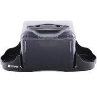 San Jamar H4005CTBK Venue Tabletop Fullfold Napkin Dispenser with Caddy