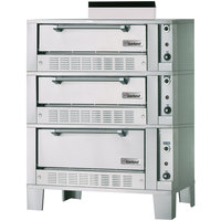 Garland G2121-72 Natural Gas 55 1/4 inch Triple Deck Roast / Bake Oven - 120,000 BTU