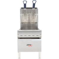 APW Wyott APWF-15C Liquid Propane 15 lb. Countertop Fryer - 40,000 BTU