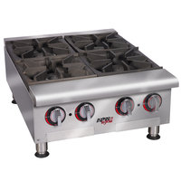 APW Wyott HHPS-848 Heavy Duty 8 Burner Stepped Countertop 48 inch Range / Hot Plate - 240,000 BTU