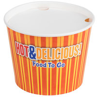 Choice 5 lb. Hot Food Bucket with Lid - 100 / Case
