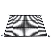 True 909403 Black Coated Wire Shelf with Shelf Clips - 17 3/8 inch x 16 1/4 inch