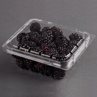 10 oz. Vented Clamshell Produce / Berry Container - 500 / Case