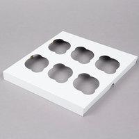 6 Cupcake Standard Kraft Paperboard Cupcake Insert - 10/Pack