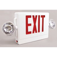 Emergency Exit Sign with LED Emergency Lighting, Battery Backup and Remote Capability (120V)