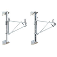 Metro SW31C Super Erecta Chrome Single Level Post-Type Wall Mount End Unit for 18 inch Deep Shelf