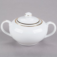 10 Strawberry Street GL0018 8 oz. Gold Line Covered Sugar Bowl - 6/Case