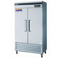 Turbo Air TSR-35SD 40 inch Super Deluxe Stainless Steel Two Solid Door Refrigerator - 35 Cu. Ft.