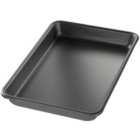 Chicago Metallic 41852 BAKALON Eighth Size 16 Gauge Aluminum Sheet Pan - Curled Rim, No Wire, 6 1/2 inch x 9 1/2 inch