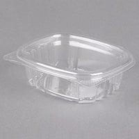 Genpak AD04 4 oz. Clear Hinged Deli Container - 100/Pack