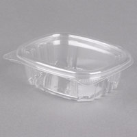 Genpak AD04 4 1/4 inch x 3 5/8 inch x 1 1/4 inch 4 oz. Clear Hinged Deli Container - 100/Pack
