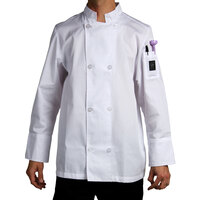 Chef Revival J049-2X Cool Crew Size 52 (2X) White Customizable Poly-Cotton Long Sleeve Chef Jacket