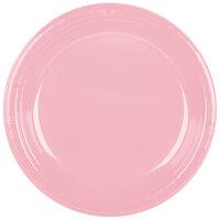 Creative Converting 28158031 10 1/4 inch Classic Pink Plastic Plate - 240 / Case