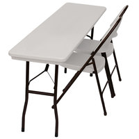 Correll RX1872 18 inch x 72 inch Gray Plastic Tamper-Resistant Folding Table