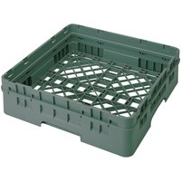 Cambro BR414119 Sherwood Green Camrack Full Size Open Base Rack with 1 Extender