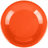Carlisle 4301252 Durus 9 inch Sunset Orange Wide Rim Melamine Plate - 24/Case
