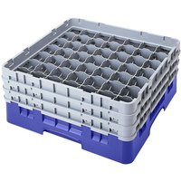 Cambro 49S958168 Blue Camrack 49 Compartment 10 1/8 inch Glass Rack