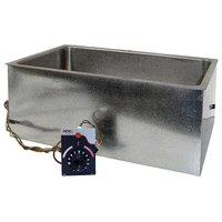 APW Wyott BM-80D UL Listed Bottom Mount 12 inch x 20 inch Insulated Hot Food Well with Drain - 120V, 750W