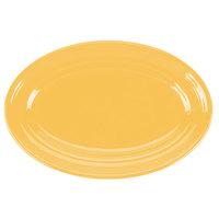 Tuxton CSH-096 Concentrix 9 3/4 inch x 6 1/2 inch Saffron Oval China Platter - 24/Case