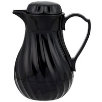 Vollrath 52126 SwirlServe Tilt & Pour 0.3 Liter Black Beverage Server