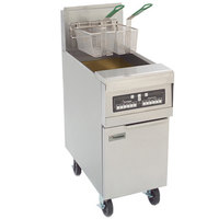 Frymaster PMJ145-2 Liquid Propane Split Pot Floor Fryer 50 lb. - 127,000 BTU