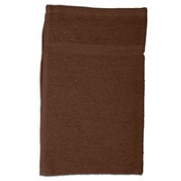 Chef Revival 700BRT-BR 16 inch x 26 inch Brown Oversized 28 oz. 100% Cotton Terry Bar Towel - 12 / Pack