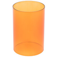 Sterno Products 85288 Orange Clear Cylinder Globe