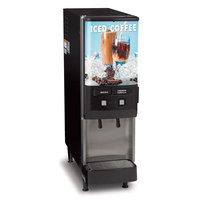Bunn 37900.0002 JDF-2S 2 Flavor Cold Beverage Iced Coffee Dispenser - 120V