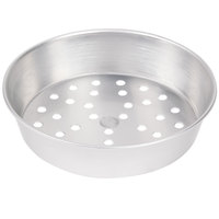 American Metalcraft PA90082 8 inch x 2 inch Perforated Standard Weight Aluminum Tapered / Nesting Pizza Pan
