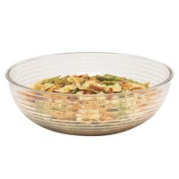Cambro RSB10CW135 3.2 Qt. Clear Camwear Round Ribbed Bowl