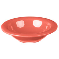 Carlisle 3304252 Sierrus 4.5 oz. 4 3/4 inch Sunset Orange Rimmed Melamine Fruit Bowl - 48/Case