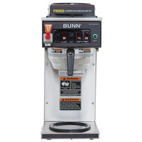 Bunn 12950.0261 CWTF35-3 Automatic 12 Cup Coffee Brewer with 2 Upper Warmers, 1 Lower Warmer, and Stainless Steel Funnel - 120/240V