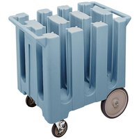 Cambro DC575401 Slate Blue Poker Chip Dish Dolly / Caddy with Vinyl Cover - 6 Column