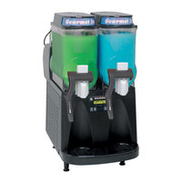 Bunn 34000.0520 Ultra-2 CFV Black Gourmet Ice Frozen Beverage System with Two Hoppers