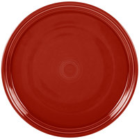 Homer Laughlin 505326 Fiesta Scarlet 15 inch China Pizza / Baking Tray - 4 / Case
