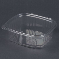 Genpak AD32 7 1/4 inch x 6 3/8 inch x 2 5/8 inch 32 oz. Clear Hinged Deli Container - 200 / Case