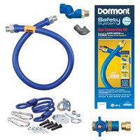 48 inch Dormont 1675KITCFS SafetyQuik Gas Appliance Connector Kit with SwivelMAX Connector - 3/4 inch Diameter