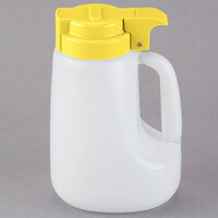 Tablecraft MW32Y 32 oz. Option Dispenser with Yellow Top - 6/Pack
