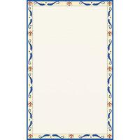8 1/2 inch x 11 inch Menu Paper Left Insert - Mediterranean Border - 100/Pack