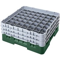 Cambro 49S638119 Sherwood Green Camrack 49 Compartment 6 7/8 inch Glass Rack